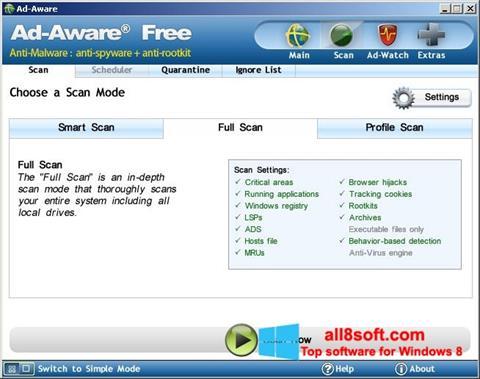 Skærmbillede Ad-Aware Free Windows 8
