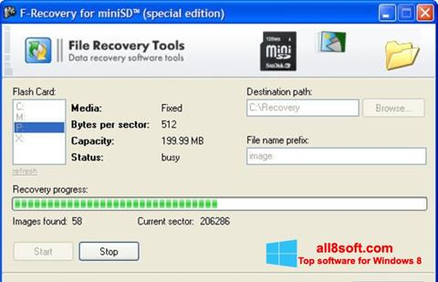 Skærmbillede F-Recovery SD Windows 8