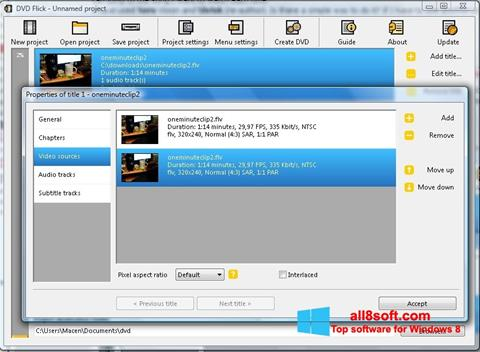 Skærmbillede DVD Flick Windows 8