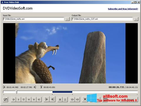 Skærmbillede Free Video Dub Windows 8