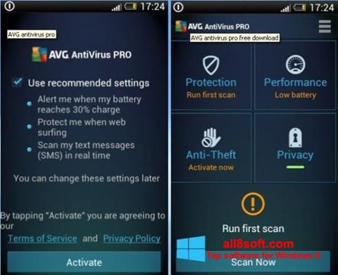 Skærmbillede AVG AntiVirus Pro Windows 8