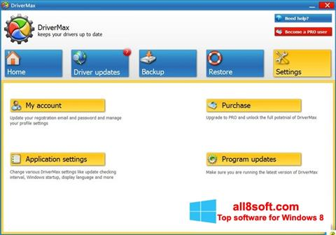 Skærmbillede DriverMax Windows 8