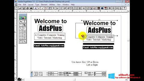 Skærmbillede Adobe PageMaker Windows 8