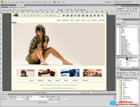 Skærmbillede Adobe Dreamweaver Windows 8