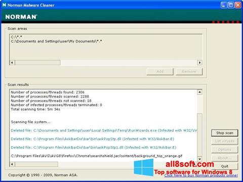 Skærmbillede Norman Malware Cleaner Windows 8