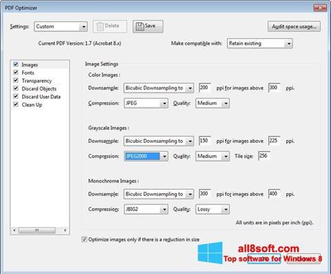 Skærmbillede Adobe Acrobat Pro DC Windows 8