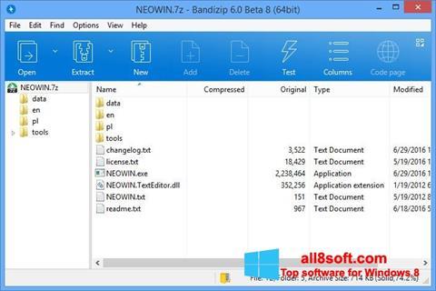 Skærmbillede Bandizip Windows 8