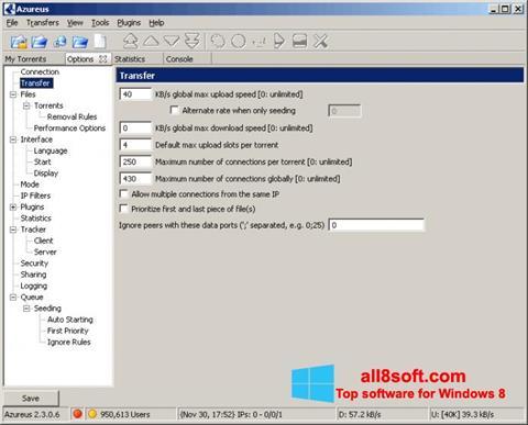 Skærmbillede Vuze Windows 8