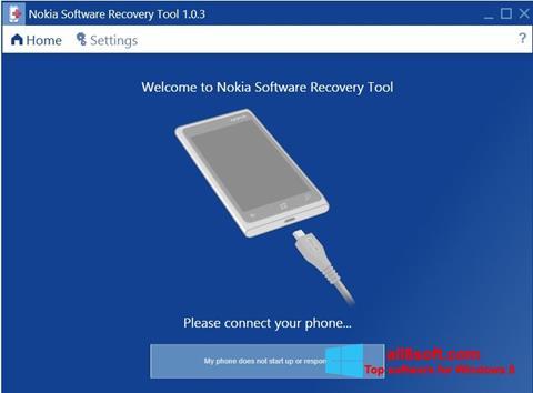 Skærmbillede Nokia Software Recovery Tool Windows 8