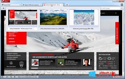 Skærmbillede Opera Windows 8
