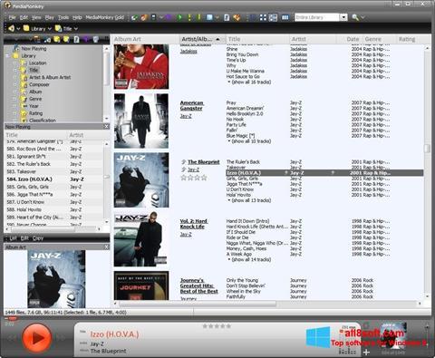 Skærmbillede MediaMonkey Windows 8