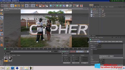 Skærmbillede CINEMA 4D Windows 8