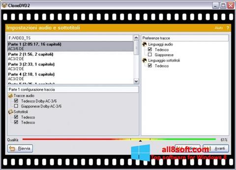 Skærmbillede CloneDVD Windows 8