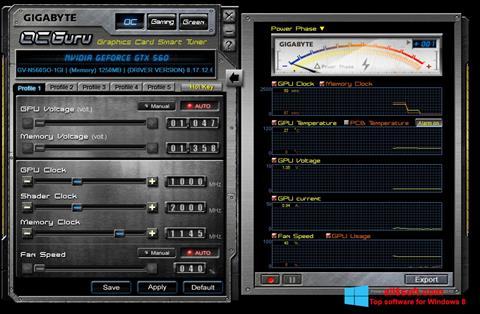 Skærmbillede GIGABYTE OC Guru Windows 8