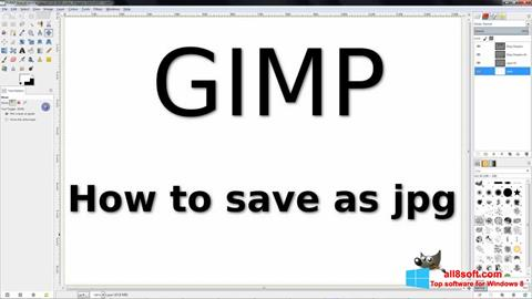 Skærmbillede GIMP Windows 8