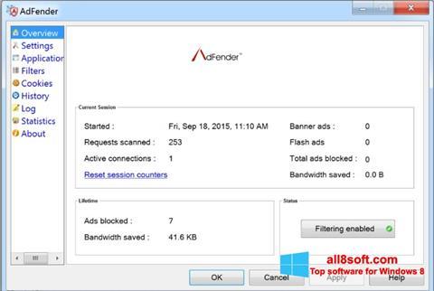 Skærmbillede AdFender Windows 8