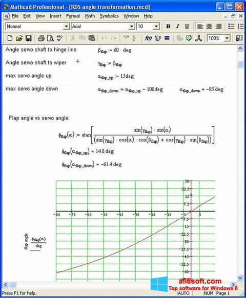 Skærmbillede MathCAD Windows 8