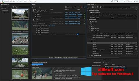 Skærmbillede Adobe Media Encoder Windows 8