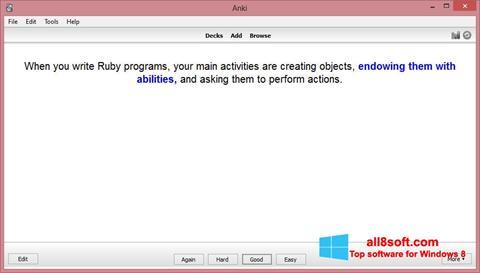 Skærmbillede Anki Windows 8