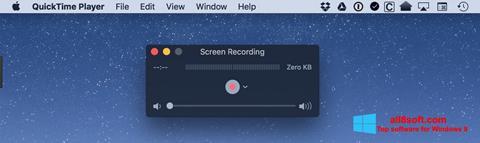 Skærmbillede QuickTime Windows 8