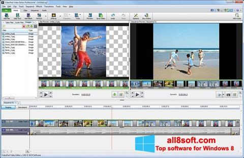 Skærmbillede VideoPad Video Editor Windows 8