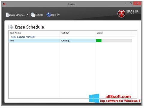 Skærmbillede Eraser Windows 8