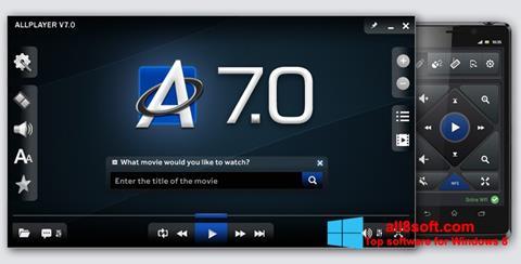 Skærmbillede ALLPlayer Windows 8