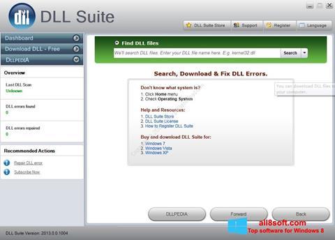 Skærmbillede DLL Suite Windows 8