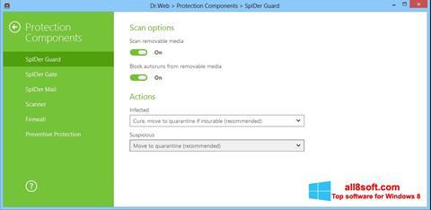 Skærmbillede Dr.Web Security Space Windows 8