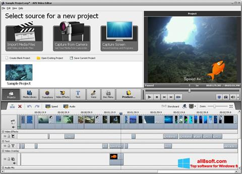 Skærmbillede AVS Video Editor Windows 8