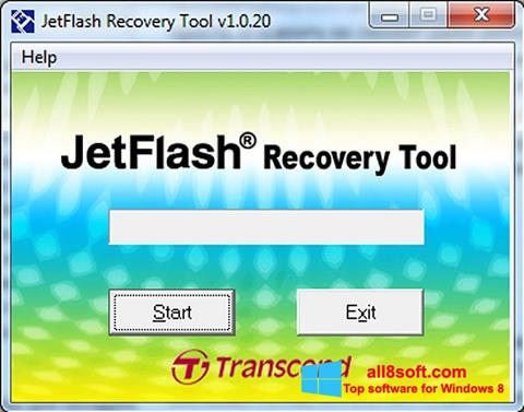 Skærmbillede JetFlash Recovery Tool Windows 8