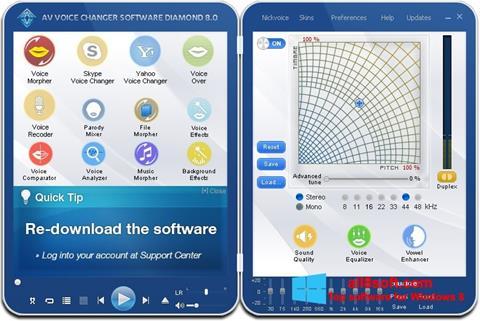 Skærmbillede AV Voice Changer Diamond Windows 8