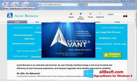 Skærmbillede Avant Browser Windows 8