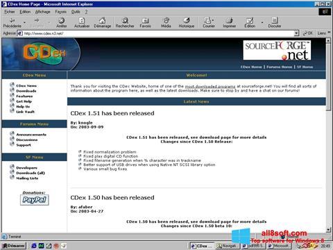 Skærmbillede CDex Windows 8