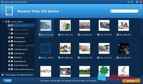 Skærmbillede iPhone Data Recovery Windows 8
