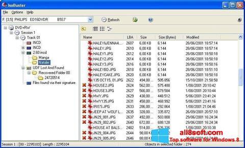 Skærmbillede IsoBuster Windows 8