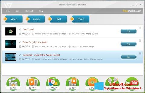 Skærmbillede Freemake Video Converter Windows 8
