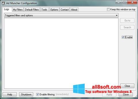 Skærmbillede Ad Muncher Windows 8