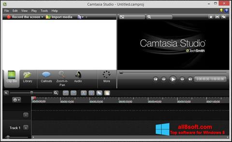 Skærmbillede Camtasia Studio Windows 8