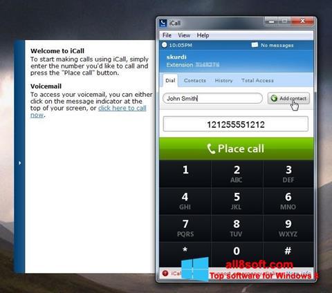 Skærmbillede iCall Windows 8