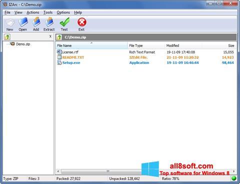 Skærmbillede IZArc Windows 8
