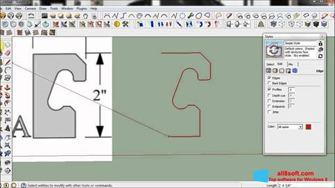 Skærmbillede SketchUp Windows 8