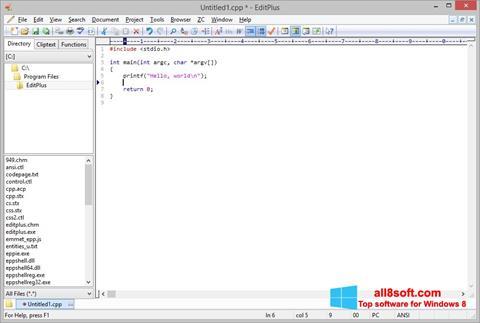 Skærmbillede EditPlus Windows 8