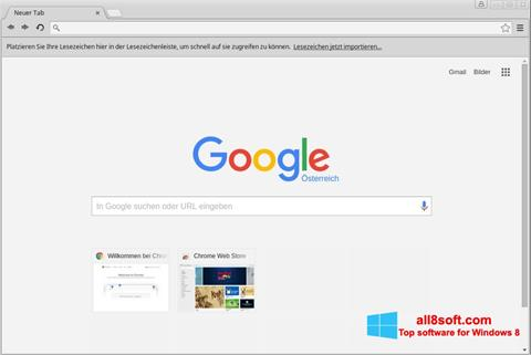 Skærmbillede Google Chrome Windows 8