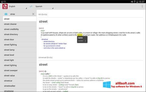 Skærmbillede ABBYY Lingvo Windows 8