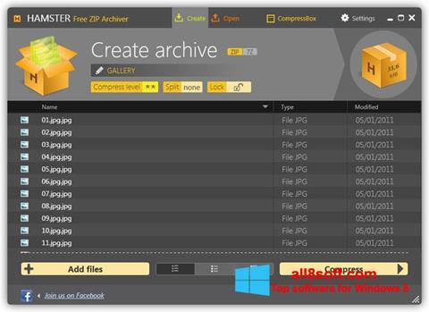 Skærmbillede Hamster Free ZIP Archiver Windows 8