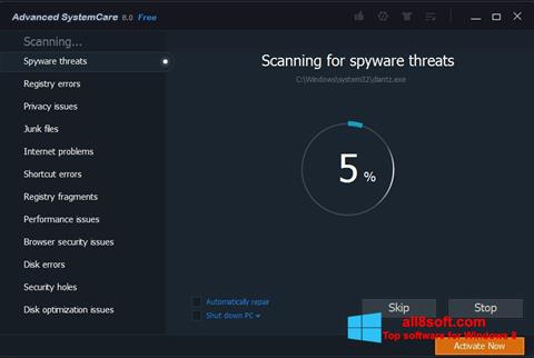 Skærmbillede Advanced SystemCare Pro Windows 8