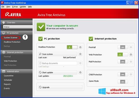 Skærmbillede Avira Windows 8
