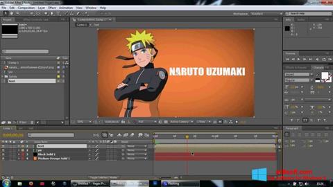 Skærmbillede Adobe After Effects Windows 8