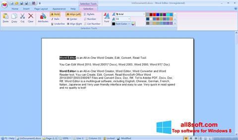 Skærmbillede DocX Reader Windows 8